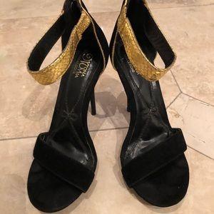 Velvet zip Heel